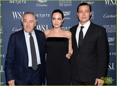 Robert De Niro, Angelina Jolie & Brad Pitt attend the 2015 WSJ Magazine Innovator Awards held at the Museum of Modern Art in New York City Wednesday Night (November 4, 2015)