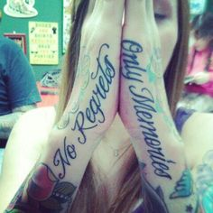hand tattoos | Tumblr
