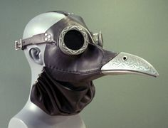 Ichabod, a steampunk plague doctor gas mask in black leather and cold cast aluminum. Ichabod Mask in Black Plague Mask, Plague Doctor Mask, Plague Dr, Witch Doctor, Steam Punk, Steampunk Gas Mask, Steampunk Bird, Steampunk Cosplay, Bird Masks