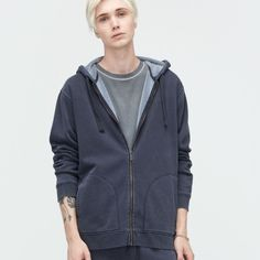 84ca97610649 UGG Elliot Washed Charcoal Hoodie - Robert Frost  Quality