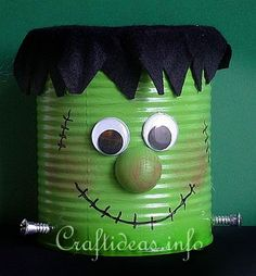 Recycled Halloween Crafts.....great idea I could use these as treat bags??