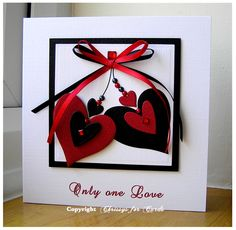 Valentine Double Heart Card