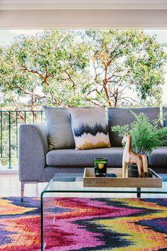Mosman Apartment - Emma Blomfield Interior Stylist Sydney. Living Room. Rug. Lounge Room.