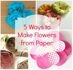 SHARE these 5 ways to make flowers from paper with your crafty friends!
