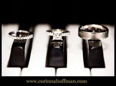our #wedding #rings on piano keys - thank you @Corinna Hoffman Photography
