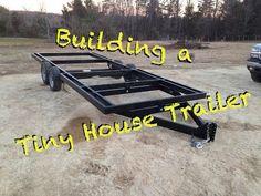 Wie man einen Tiny House Trailer von Grund auf neu baut - Home design ideas Tiny House Trailer Plans, Tiny House On Wheels, Small House Plans, Trailer Build, Tyni House, Tiny House Cabin, Tiny House Living, Tiny Cabins, Home Design