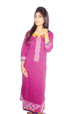 Long length leheriya attachment kurti. (Offer Price: Rs 499 , Offered Discount: 9%) ** BUY NOW ** [MRP: Rs 549]