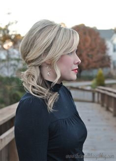 Holiday Hair Tutorial : Swept to the Side