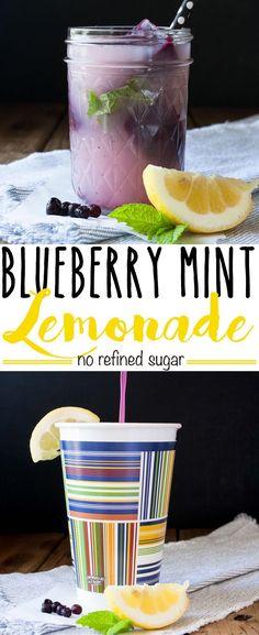 Blueberry Mint Lemonade   http://www.veggiesdontbite.com   #vegan # ...