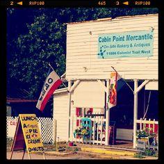 Cabin Point Mercantile, bakery, antique store. Surry, Virginia