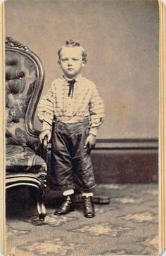 Vintage Civil War Era CDV of A Standing Young Boy in A Western Attire | eBay