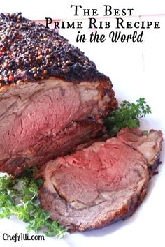 Fool-Proof Oven-Roasted Prime Rib This is the best recipe for Fo. - Fool-Proof Oven-Roasted Prime Rib This is the best recipe for Fool-Proof Medium-Rar - Rib Recipes, Roast Recipes, Cooking Recipes, Smoker Recipes, Sushi Recipes, Recipies, Dinner Recipes, Best Prime Rib Recipe Ever, Prime Rib Recipe Easy
