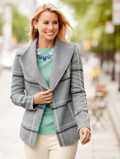 Double-Faced Jacket-Plaid - Talbots