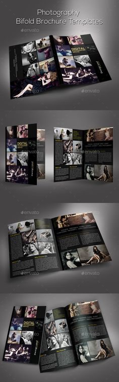 Photography Bifold Brochure  —  PSD Template • Download ➝…