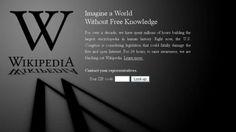 Wikipedia goes Dark for 24 hours to protest SOPA. SOPA will kill PINTEREST!