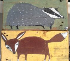 fox and badger by oswald flump, via Flickr