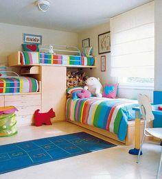 Decorar un dormitorio para tres niños