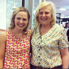 Lauren's mum made a Mimi blouse! The fabric is Liberty 'Queue for the Zoo'