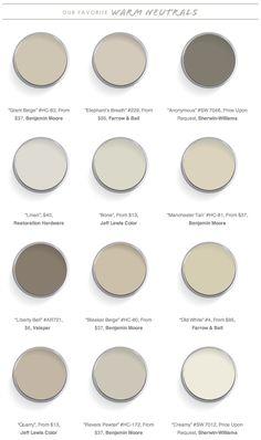 Domaine Home 12 Best Warm Neutral Paint Colors #greige
