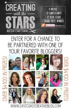 Creating with the Stars 2013! Enter one of your blog projects for the chance to be partners with one of the biggest DIY bloggers and win up to 4100 dollars in awesome prizes and cash! {East Coast Creative Blog}