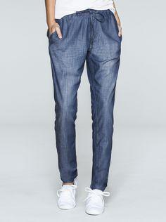 Calça Feminina Jogger Em Jeans Com Cós Franzido | Calças | Feminino | Hering