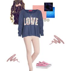 """""""Love Sweater"""" by theresek4444 on Polyvore"""