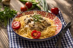Creamy, cheesy and rich - this mushroom spaghetti dish will grant your every wish.