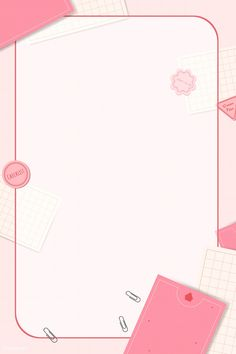 Pink notepad planner set vector | premium image by rawpixel.com / Chayanit Background Design Vector, Cartoon Background, Frame Background, Powerpoint Background Templates, Powerpoint Design Templates, Cute Wallpaper Backgrounds, Cute Wallpapers, Instagram Frame Template, Instagram Background