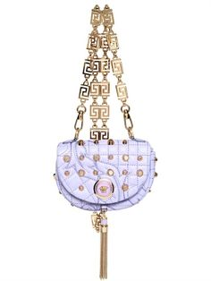 Versace 2012 Baroque Studded Nappa Shoulder Bag | Spring Womens Summer Fashion