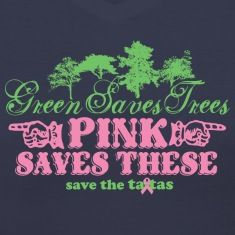 Official Save the ta-tas Tee Pink Saves These