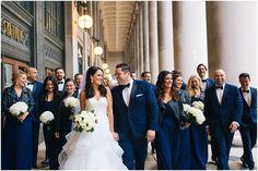 "Bridesmaids rocking leather jackets? Don't mind if ""I Do""! Real Weddings: Joe + Lauren   ChicagoStyle Weddings    Photo by Jill Tiongco    #bridesmaids #wedding #JARLO #bridesmaidsdresses"