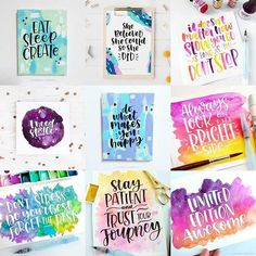 Happy birthday card via happy hands project cards pinterest brush lettering by carmiaonje on instagram my best nine of 2017 bookmarktalkfo Images
