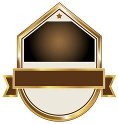 Золото и коричневый этикетки PNG клипарт изображения