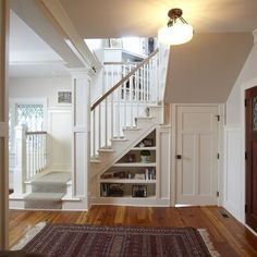 White Painted Staircase Railing Design, Pictures, Remodel, Decor and Ideas – page 27