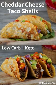 Cheddar Cheese Beef Tacos Low Carb Recipe