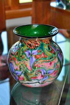 Glass Vase by Charles Lotton