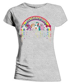 Official My Little Pony 80s dripping logo T-Shirt for women.