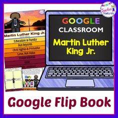Teach students about Martin Luther King Jr with this engaging 9 page flip book for Google Classroom. This MLK mini-unit is a perfect way to teach your 1st, 2nd & 3rd grade students about Martin Luther King Jr. and all of the wonderful things he did for civil rights and equality. Teaching Tools, Teaching Resources, Teaching Ideas, Interactive Learning, Teacher Hacks, King Jr, Google Classroom, Martin Luther King, Classroom Activities