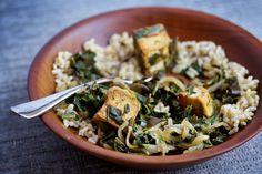 Saag Tofu With Kombu   Recipe by Barton Seaver from Superfood Seagreens Cookbook. #Vegetarian