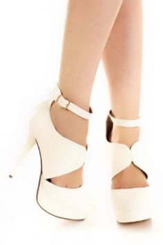 White Closed Toe Heels