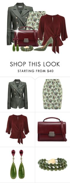 """""""Khaki Contest"""" by shamrockclover ❤ liked on Polyvore featuring Topshop, Yves Saint Laurent, Valentino, topshop, khaki and polyvoreeditorial"""