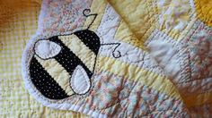 Bumblebee Baby Quilt by hafenwood on Etsy, $95.00