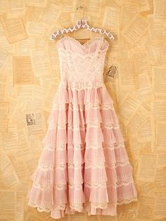 Vintage 1950s Pink Cocktail Dress at Free People Clothing Boutique - StyleSays
