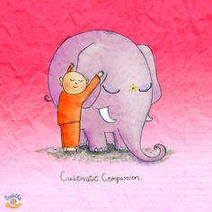 *Today's Buddha Doodle* - Happy Birthday to BuDoodles! Cultivate Compassion