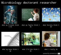 Microbiology doctorant researcher, What people think I do, What I really do meme image - uthinkido.com