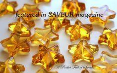 5.5 oz Old Fashioned Barley Sugar Candy ALL Natural STAR Shaped Candy Edible Sugar Stars