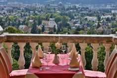 like this kind of view for your breakfast? this is @ Austria Trend Hotel Schloss Wilhelminenberg, Vienna, Austria - great place, great view, reasonably priced