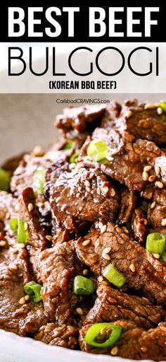 BEST Beef Bulgogi – (tips and tricks!) – Carlsbad Cravings You are in the right place about bulgogi Here we Beef Bulgogi Recipe, Bulgogi Sauce, Carlsbad Cravings, Sem Lactose, Keto, Le Diner, Beef Steak, Gourmet, Recipes