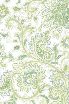 blue/green paisley wallpaper - bedroom idea for one wall? Guest room.