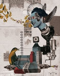 Collage by Randy Mora Dada Collage, Collage Foto, Love Collage, Poster Collage, Collage Artwork, Collage Design, Collages, Surreal Collage, Art And Illustration